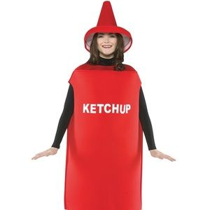 Adult Ketchup Halloween Costume